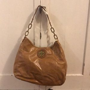 Tory Burch hobo bag in luggage colored leather